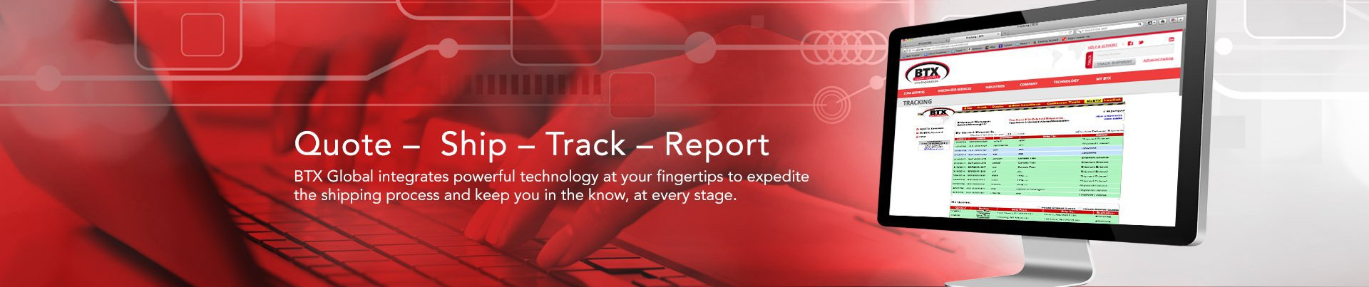 Quote, Ship, Track, Report Shipping